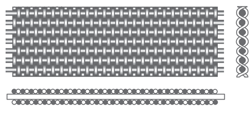 siatka filtracyjna splot holenderski